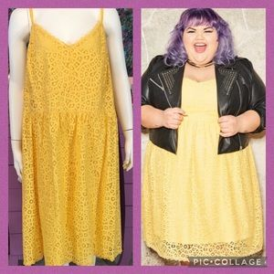 Ashley Nell Tipton Golden Yellow Lace Dress